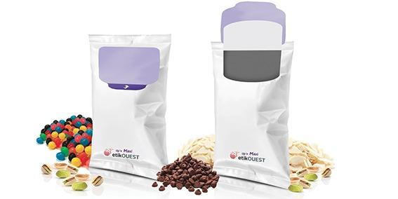 Etik OUEST packaging - FLOW PACK-Up'n MAXI etik ouest etiquette repositionnable ouverture fermeture facile / agrifood label