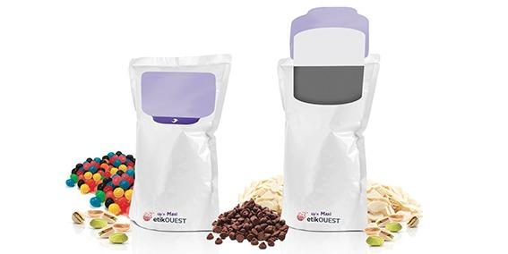 Etik OUEST packaging - DOYPACK-Up'n MAXI etik ouest etiquette repositionnable ouverture fermeture facile / food packaging labels