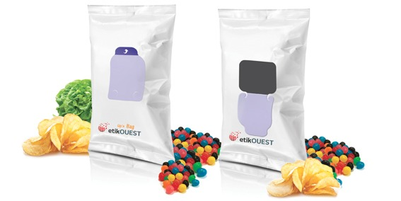 etik ouest packaging étiquette adhésive sachet alimentaire FLOW PACK-Up'n BAG / packaging