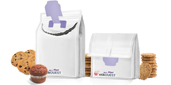 Etik OUEST packaging - emballage souple ouverture facile QUATTRO SEAL-Up'n MAXI / food packaging labels