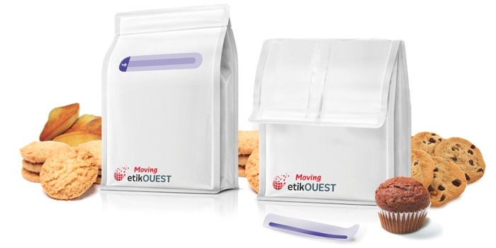 Etik OUEST packaging - QUATTRO SEAL-U'pn MOVING / etik ouest packaging / labels manufacturer