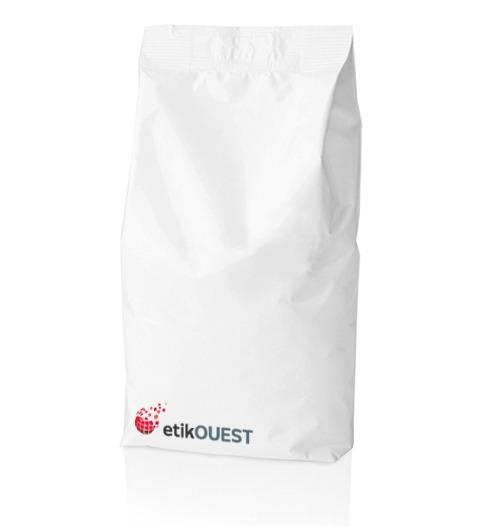 Etik OUEST PACKAGING - étiquette de produit alimentaire pour sachet double plis