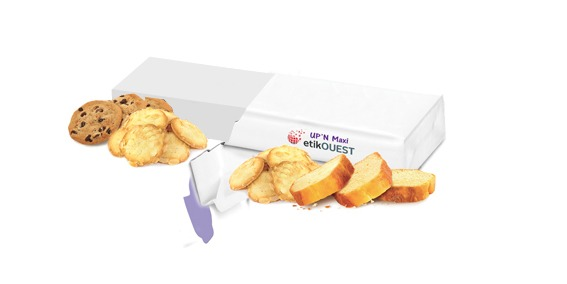 Etik OUEST packaging - prestataire étiquettes industrielles Up'n MAXI - ouverture fermeture facile emballage / food packaging labels