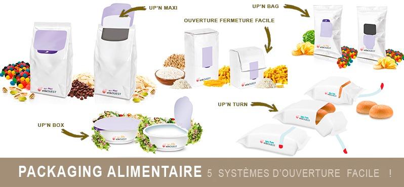 packaging alimentaire 5 systèmes d'ouverture facile