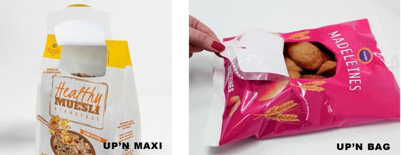 étiquette ouverture fermeture pour emballage up'n maxi up'n bag Etik Ouest Packaging