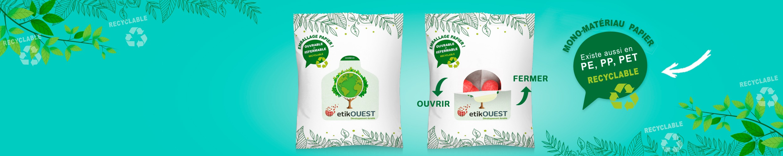 up'n mono-matériau, emballage mono-matériau, Etik Ouest packaging