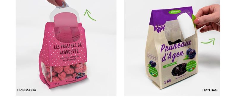 Etik Ouest Packaging, solutions ouvertures fermetures, ouverture facile packaging, up'n maxi, up'n bag